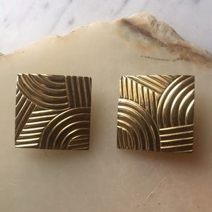 Vintage Givenchy Gold Statement Earring 30mm